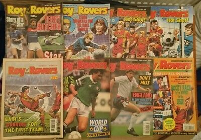 8 x Roy of the Rovers Comics 1988-1991