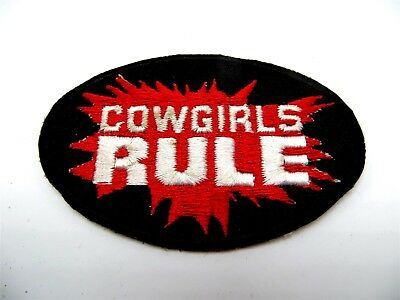 Cowgirls Rule Embroidered Patch 3""