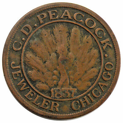 Chicago, Illinois - 1837 C.D. Peacock Jeweler Time Is Money Hard Times Token