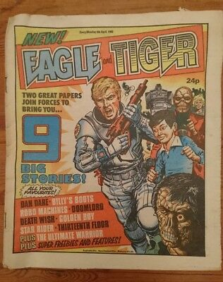 First ever Eagle and Tiger Comic 6 April 1985