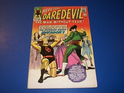 Daredevil #5 Silver Age Yellow Costume 1st Wood Art Wow Solid VGF