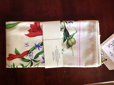 Michel Design Works Kitchen Tea Towel (1) Morning Blossoms 100% Cotton Nip
