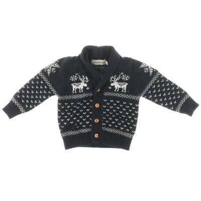 Zoerea Baby 3648 Navy Knit Baby Boy Button Front Cardigan Sweater 6-9 MO BHFO