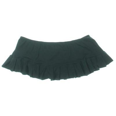 Elegant Moments 8969 Womens Black Pleated Mini Low Waist Skirt Plus 3X/4X BHFO