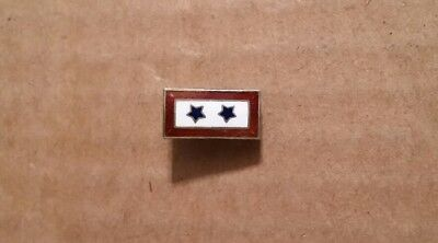 """""""Son in Service"""" Two Star Sterling Silver Mother's Pin,WWII Vintage,1941-45"""