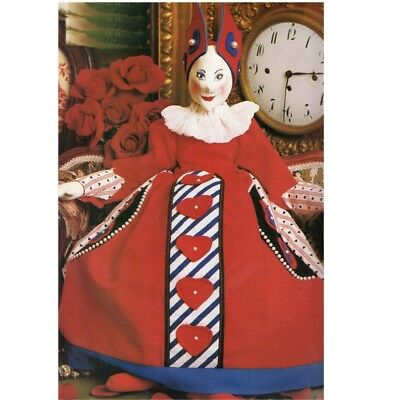 Cloth Doll Pattern Queen of Hearts 50cm.Lovely costume.
