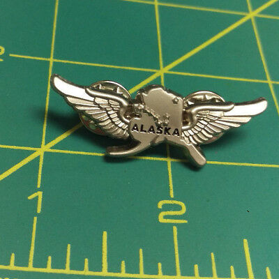 Alaska Pin - Alaska Bush Pilot Wings Tie Tac - Alaska Pilot Wings Pewter Pin