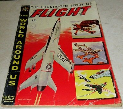 Classics Illustrated World Around Us 8: Flight (VG/FN 5.0) 1959, 40% off Guide!