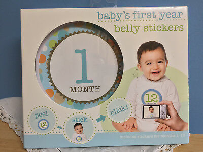 Baby's HL4 First Year Belly Stickers 12 Stickers NIB-Monthly Birthday Photo