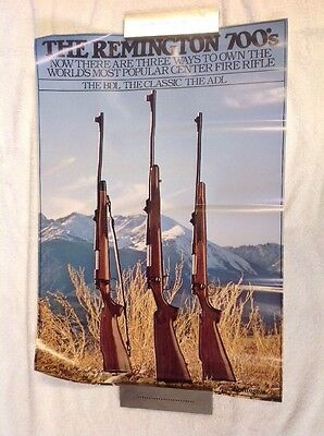 Vintage, Remington 700's Rifle Ad.  Hung In SPT Gds Stores In 80's