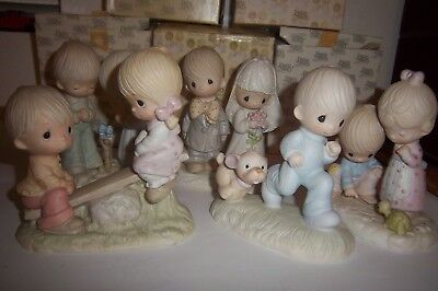 Lot of 5 Precious Moments Figurines In Boxes 1978 1979 1980 1981