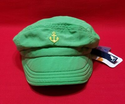 NWT Kangol Kids Boats & Sailors Enfield Sailor Hat Lime Green Size M/L