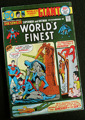 Worlds Finest 230 (1975) 68 Pages! Super Sons! Neal Adams Deadman! Hi Mid-Grade!