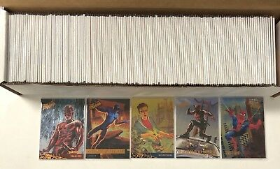 2017 Fleer Ultra Spider-Man Silver Foil Board Parallel Achievements Complete Set