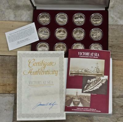 1993 Victory at Sea 12 Coin 1 Crown Commemorative Coin Set, Gibraltar, With COA