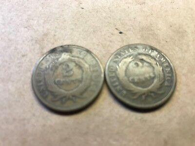 Lot of two cent pieces, 1865 and 1868