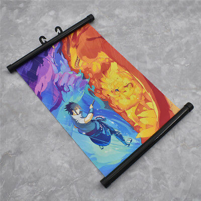 Fashion Japanese Anime  Naruto Wall Poster Scroll Family Decorations Fans Gifts