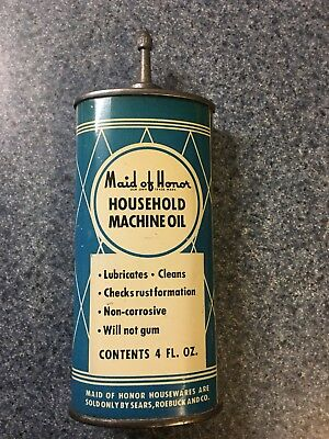 Lead Top Handy Oil Can Maid Of Honor Rare