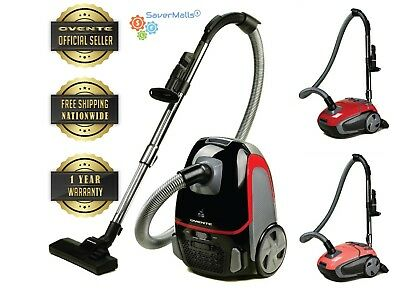 Ovente ST1600 Canister Vacuum with Tri-Level Filtration NEW
