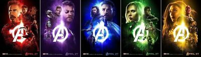 Avengers Infinity War Movie Posters - Buy SET of 5 Pay for 4 - FREE POST
