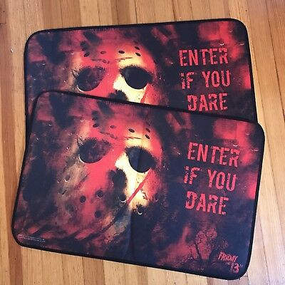 Lot Of 2 Friday The 13Th Movie DOOR MAT. New Line Production.
