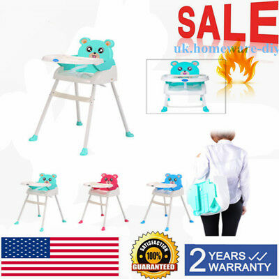 Infant High Chair Baby  Toddler Eating Feeding Booster Seat Folding Adjustable