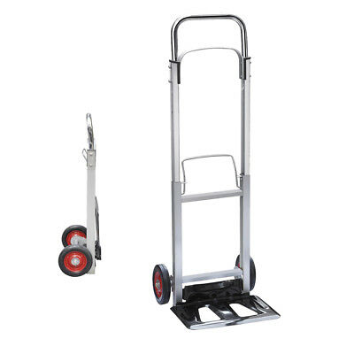 Folding Hand Truck Lightweight Aluminium Alloy Heavy Duty Sack Cart 90kg UKDC