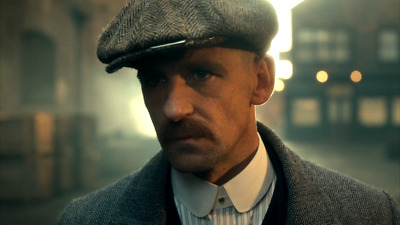Arthur Shelby Cap Moustache Fancy Dress Costume By Order Of The Peaky Blinders