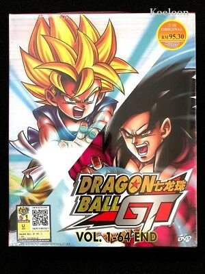 DVD Anime DRAGON BALL GT Complete Series (1-64 End) English Subtitle All Region