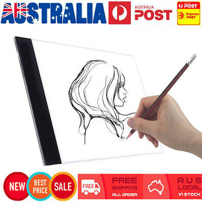 A4 USB LED Artist Thin Stencil Board Light Box Tracing Drawing Board Pad Table