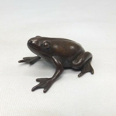 A093: Japanese copper ware frog statue as ornament for BONSAI