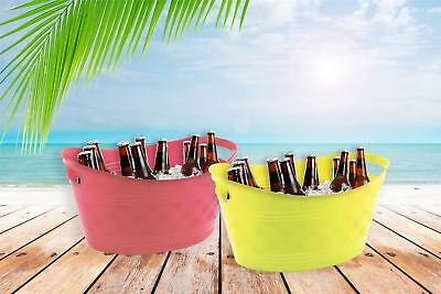 Ice Buckets Pack of 2 Outdoor Party BBQ Summer Party Drinks Home Garden Bello