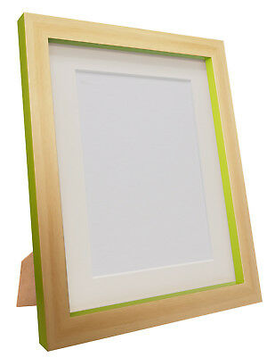 Magnus Beech & Green Edge Picture Photo Frames & Black White or Ivory Mounts