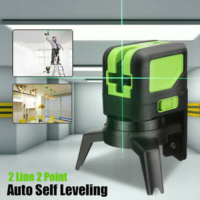 Laser Level 2 Point 2 Line Green Self Leveling Vertical Horizontal Measure Tool