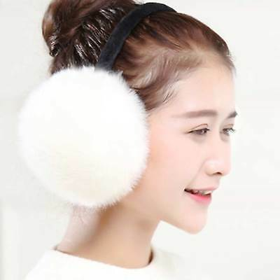 Women Girls Warm Faux Fur Ear Muffs Fluffy Soft Earwarmer Adjustable Winter Snow