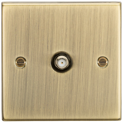 Antique Brass Rounded Edge SAT TV Outlet