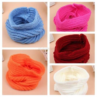 UK Baby Warm Knitted Scarf Boys Girls Crochet Knitted Scarves Autumn Winter