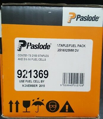 Paslode Staple Fuel Pack x 2100 and 3 Fuel Cells