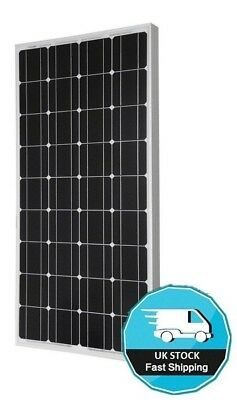 100 WATT SOLAR PANEL + ABS CORNER MOUNTS motorhome VW camper RV 100w caravan