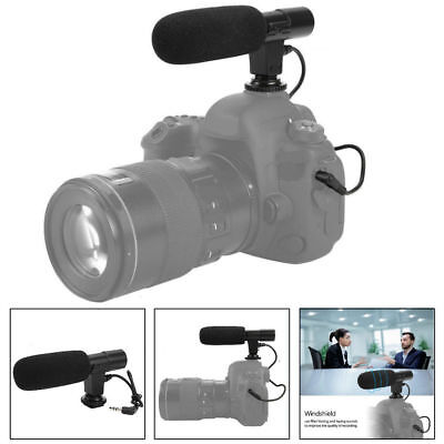 Lightweight 3.5mm Recording Microphone Mic for Canon Nikon Camera Camcorder