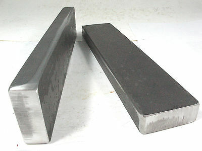 "LONG 10 Ton Shop GROUND STEEL H-Frame Arbor PRESS PLATES 3/4"" x 2"" x 9-1/2"" Bars"