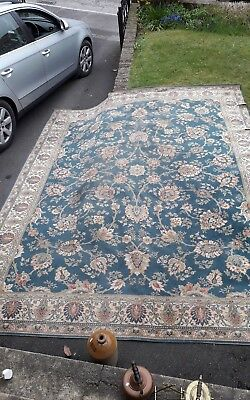 Antique Room Sized Rug Prob Old Axmister Or Wilton Beautiful Colours & Design
