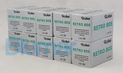 10 Rollei RETRO 80s 35mm 36 exp B&W film, fine grain, IR capabilities 10-2022