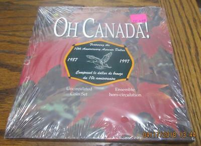 1997 Oh! Canada Set with Special $1 Loon  7 Coin Mint Set.  As issued. TF-629