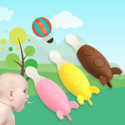 Baby Squeeze Feeding Spoon Soft Silicone Spoon Kids Learning Tableware Bottles