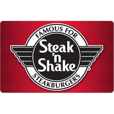 Steak N Shake Gift Card 25 Value Only 2200 Free Shipping