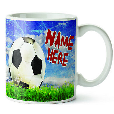 Personalised Football Mug Birthday Cup Gift * Add Name *DP22