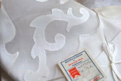 Estate Madeira Napkins And Placemats Unused Applique With Paper Label