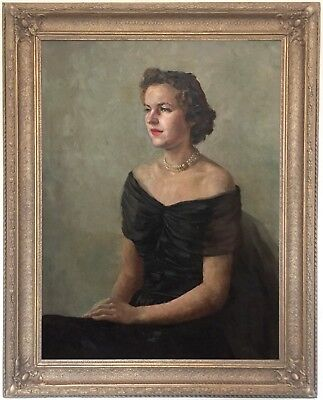 Portrait of a Young Lady Oil Painting by Ray Howorth (British, 1914–1985)