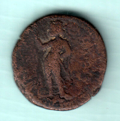 India 2000 Years Old Extremely RARE Copper Ancient Coin Kushan Empire 655